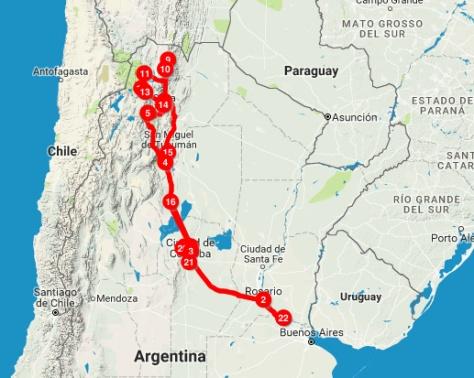 ruta noroeste argentino 2017