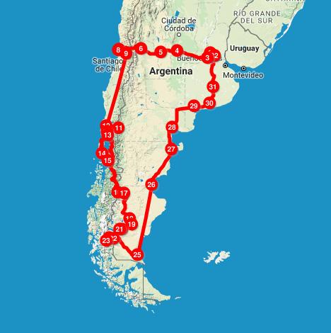 ruta sur argentina chile 2017