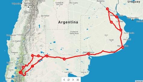 ruta Sur argentino 2015