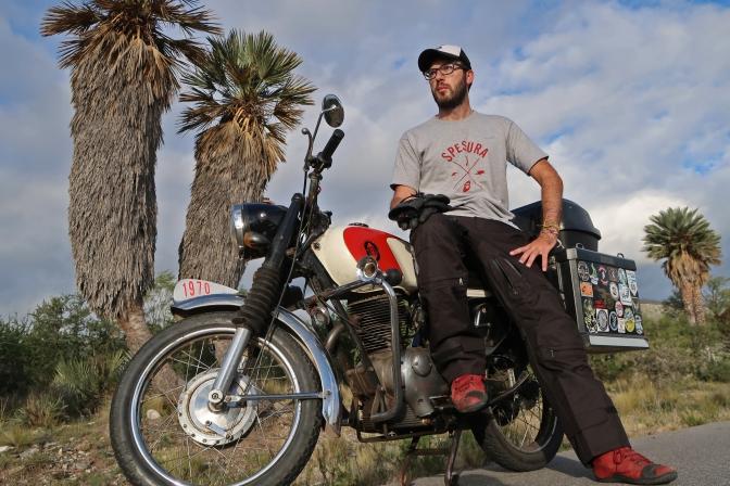 Pablo Imhoff, La Vuelta a la Argentina en Gilera