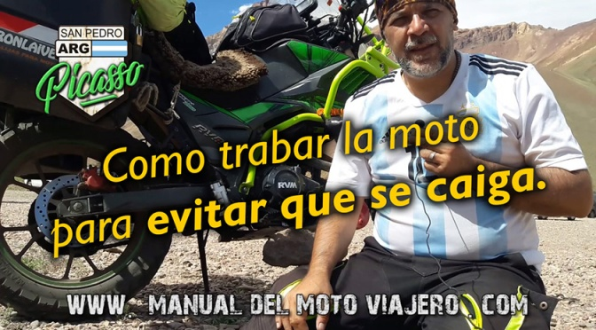 Como trabar la moto para evitar que se caiga